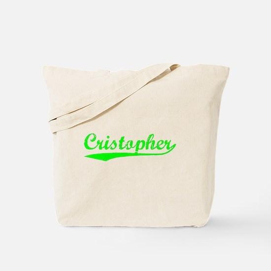 Vintage Cristopher (Green) Tote Bag