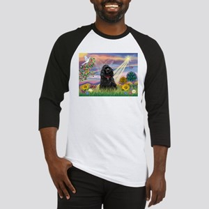 Cloud Angel/Black Cocker Baseball Jersey