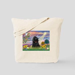 Cloud Angel/Black Cocker Tote Bag