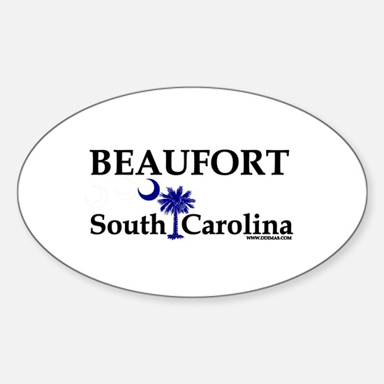Beaufort South Carolina Oval Decal