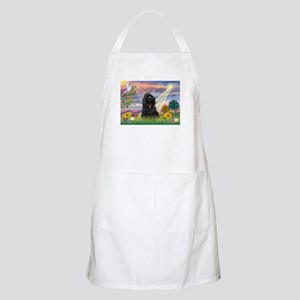 Cloud Angel/Black Cocker Apron