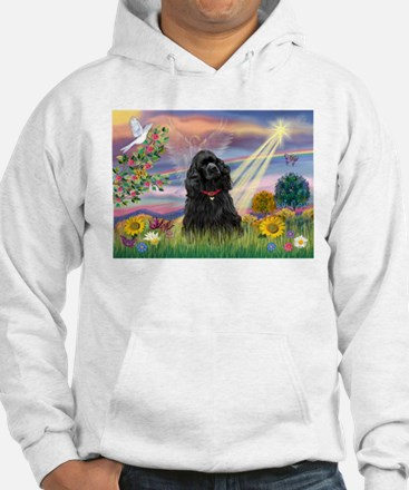 Cloud Angel/Black Cocker Hoodie