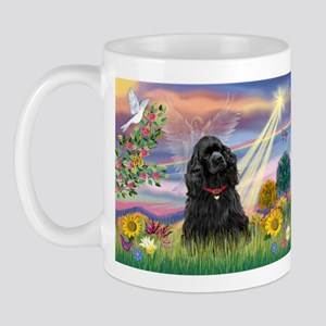 Cloud Angel/Black Cocker Mug