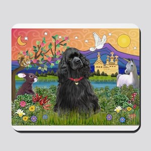 Fantasy Land/Cocker(blk) Mousepad