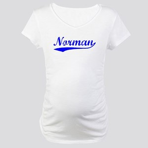 Vintage Norman (Blue) Maternity T-Shirt