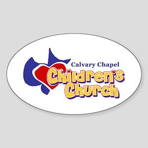 Children's Church Oval Sticker