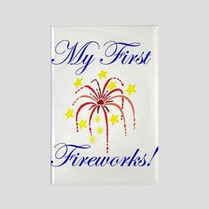 My First Fireworks! Rectangle Magnet