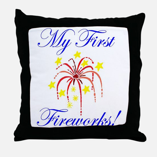 My First Fireworks! Throw Pillow