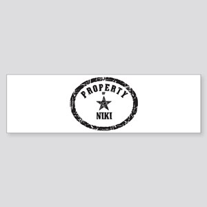 Property of Niki Bumper Sticker