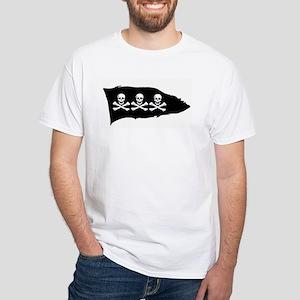 3 Skulls (Condent) White T-Shirt