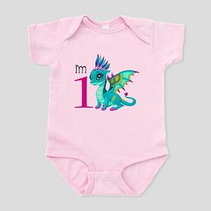 First Birthday Dragon Baby Light Bodysuit
