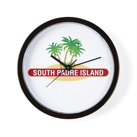 South Padre Palms - Wall Clock
