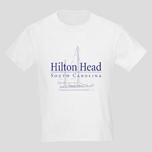 Hilton Head Sailboat - Kids Light T-Shirt