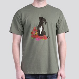 NBlkW Roses Pup Dark T-Shirt
