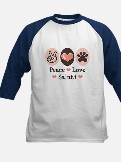 Peace Love Saluki Kids Baseball Jersey