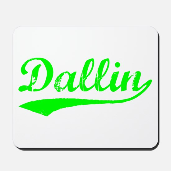 Vintage Dallin (Green) Mousepad