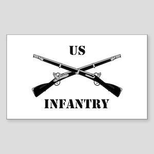 Infantry Branch Insignia (3a) Sticker (Rectangular