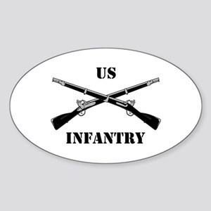 Infantry Branch Insignia (3a) Oval Sticker