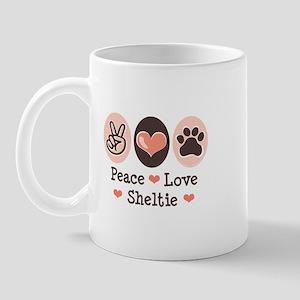 Peace Love Sheltie Mug