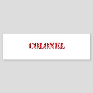 Colonel Red Stencil Design Bumper Sticker