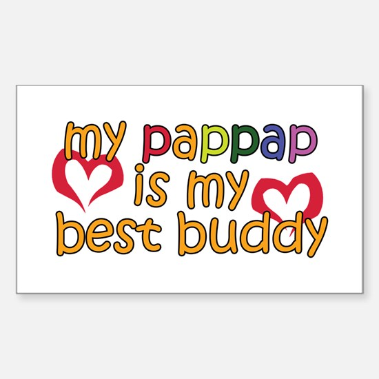 PapPap is My Best Buddy Rectangle Decal