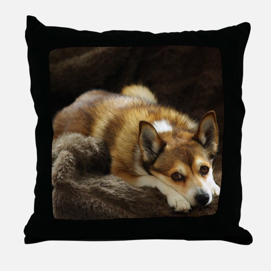 Lundehund/Puffin Dog Throw Pillow