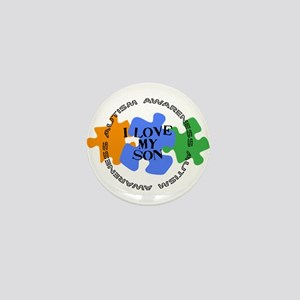 Autism Awrnss - Love Son Mini Button