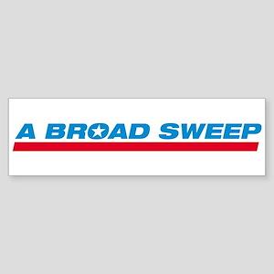 Broad Sweep Bumper Sticker