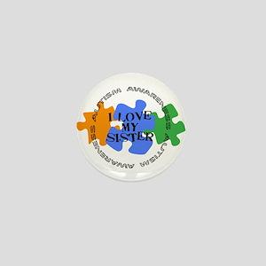 Autism Awrnss - Love Sis Mini Button