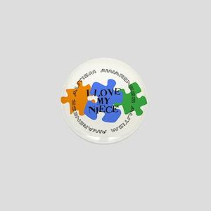 Autism Awrnss - Love Niece Mini Button