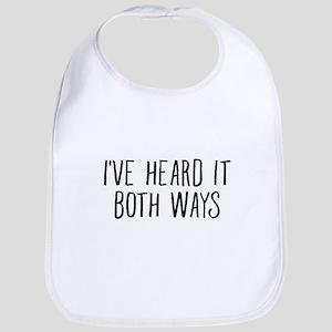I've Heard It Both Ways For TV Lover Baby Bib