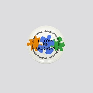 Autism Awrnss - Love Godson Mini Button