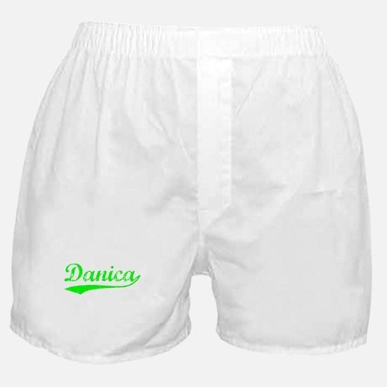 Vintage Danica (Green) Boxer Shorts