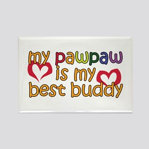 PawPaw is My Best Buddy Rectangle Magnet