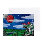 Grumlahk's Moons Greeting Card