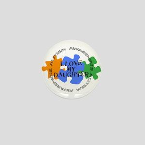 Autism Awrnss - Love Daughter Mini Button