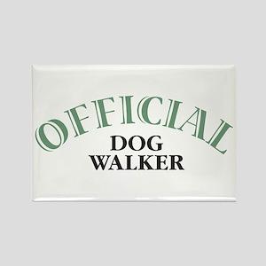 Dog Walker Rectangle Magnet