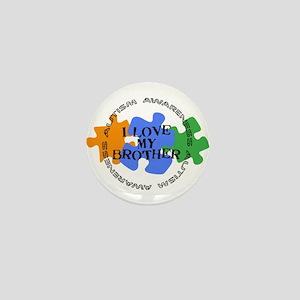 Autism Awrnss - Love Bro Mini Button