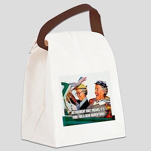 Retirement Adventure Canvas Lunch Bag