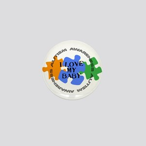 Autism Awrnss - Love Baby Mini Button
