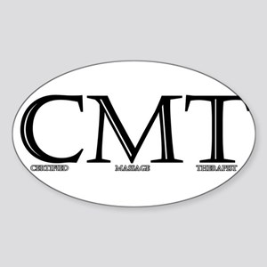 Certified Massage Therapist Oval Sticker