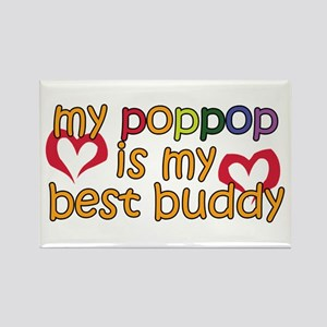 PopPop is My Best Buddy Rectangle Magnet