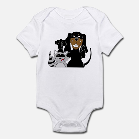 Coonhound and Raccoon Infant Bodysuit