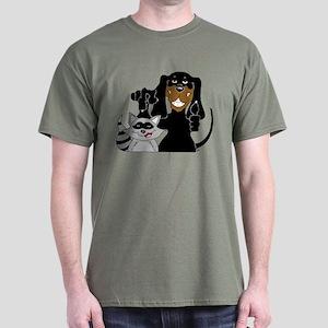 Coonhound and Raccoon Dark T-Shirt