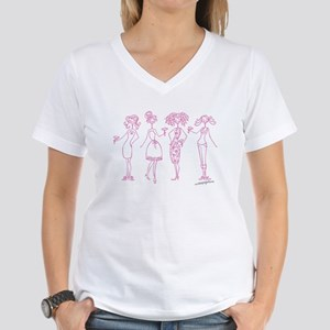 SISTAHOOD Women's V-Neck T-Shirt