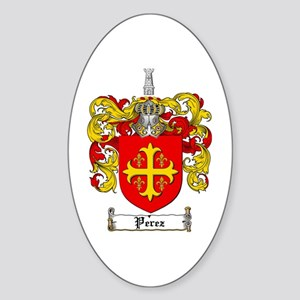 Perez Family Crest Oval Sticker