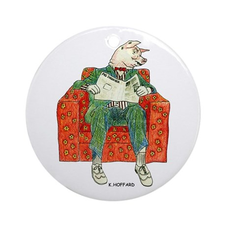 Pig Inquirer Ornament (Round)