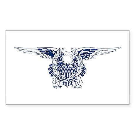 Blue American Eagle Rectangle Sticker