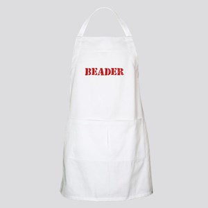 Beader Red Stencil Design Light Apron