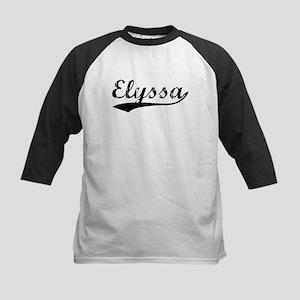 Vintage Elyssa (Black) Kids Baseball Jersey